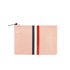 Clare V. Women's Margot Flat Clutch Bag - Blush Navy Cream/Red Stripes: Image 1