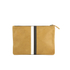 Clare V. Women's Supreme Flat Clutch Bag - Camel Black/White Stripes: Image 6