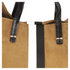 Clare V. Women's Supreme Simple Tote Bag - Camel Suede With Black/White Stripes: Image 4