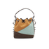 SALAR Women's Tala Small Edges Bucket Bag - Tan/Multi: Image 6