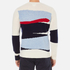 GANT Rugger Men's Intarsia Block Jacquard Jumper - Cream: Image 3