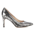 Clarks Women's Dinah Keer Leather Metallic Court Shoes - Silver Metallic: Image 1