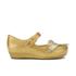 Mini Melissa Vivienne Westwood Toddlers' Ultragirl 16 Ballet Flats - Gold Glitter: Image 1