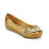 Mini Melissa Vivienne Westwood Kids' Ultragirl Cherub Ballet Flats - Gold Glitter: Image 2