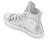 Converse Kids' Chuck Taylor All Star Metallic Leather Hi-Top Trainers - Pure Silver/White/White: Image 4