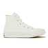 Converse Kids Chuck Taylor All Star II Tencel Canvas Hi-Top Trainers - White/White/Navy: Image 1