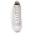 Converse Women's Chuck Taylor All Star Sting Ray Leather Hi-Top Trainers - Pure Silver/Black/White: Image 3