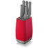 Morphy Richards 971261 Chroma 5 Piece Knife Block - Poppy: Image 1