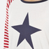 Maison Scotch Women's Long Sleeve Baseball T-Shirt with Cool Artworks - White: Image 5