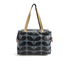 Orla Kiely Women's Linear Stem Print Laminated Zip Shopper Bag - Midnight: Image 1