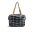 Orla Kiely Women's Linear Stem Print Laminated Zip Shopper Bag - Midnight: Image 8