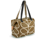 Orla Kiely Women's Linear Stem Print Zip Shopper Bag - Camel: Image 3