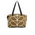 Orla Kiely Women's Linear Stem Print Zip Shopper Bag - Camel: Image 8