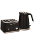 Morphy Richards Aspect Steel 4 Slice Toaster and Kettle Bundle - Black: Image 1