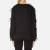Sportmax Women's Zeda Bow Sleeve Sweatshirt - Black: Image 3