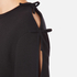 Sportmax Women's Zeda Bow Sleeve Sweatshirt - Black: Image 6