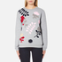 Sportmax Women's Texas Embroidered Sweatshirt - Medium Grey: Image 1