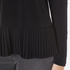 MICHAEL MICHAEL KORS Women's Solid Woven Pleat Top - Black: Image 6