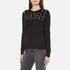 MICHAEL MICHAEL KORS Women's Slash Neck Crew Sweater - Black: Image 2
