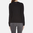 MICHAEL MICHAEL KORS Women's Slash Neck Crew Sweater - Black: Image 3