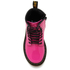 Dr. Martens Kids' Delaney Patent Leather Lace Boots - Hot Pink: Image 3