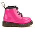 Dr. Martens Toddlers' Brooklee B Patent Lamper Lace Up Boots - Hot Pink: Image 1