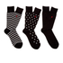 Polo Ralph Lauren Men's 3 Pack Socks - Dot Black: Image 2