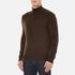 Polo Ralph Lauren Men's Half Zip Merino Knitted Jumper - Brown Marl: Image 2