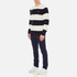 Lacoste Men's Crew Neck Stripe Sweatshirt - Navy Blue/Flour: Image 4