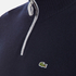 Lacoste Men's Half Zip Funnel Neck Sweatshirt - Navy Blue/Silver Chine: Image 5