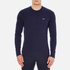 Lacoste Men's Crew Neck Cable Stitch Jumper - Midnight Blue/Chine: Image 1
