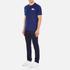Lacoste L!ve Men's Large Logo Crew T-Shirt - Jazz/White/Navy Blue: Image 4