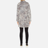Karl Lagerfeld Women's Soft Curly Faux Fur Coat - Grey: Image 3