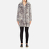 Karl Lagerfeld Women's Soft Curly Faux Fur Coat - Grey: Image 1
