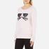 Karl Lagerfeld Women's Kocktail Choupette Sweatshirt - Rose Smoke: Image 2