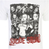 DC Comics Mens Suicide Squad Harley Quinn and Squad T-Shirt - Wit: Image 5