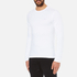 Michael Kors Men's Long Sleeve Sleek MK Crew Top - White: Image 2