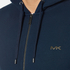Michael Kors Men's Stretch Sweat Full Zip Hoody - Midnight: Image 5