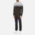Michael Kors Men's Wool Blend Crew Neck Jumper - Heather Grey: Image 4