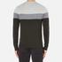 Michael Kors Men's Wool Blend Crew Neck Jumper - Heather Grey: Image 3