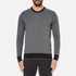Michael Kors Men's Cotton Jacquard Crew Neck Jumper - Black: Image 1