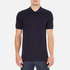Versace Collection Men's Collar Detail Polo Shirt - Navy: Image 1