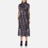 Ganni Women's Delaney Mesh Maxi Dress - Black Bouquet: Image 1