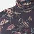 Ganni Women's Delaney Mesh High Neck Top - Black Bouquet: Image 5