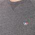 Maison Kitsuné Men's Tricolor Patch Sweatshirt - Grey Melange: Image 5