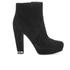 MICHAEL MICHAEL KORS Women's Sabrina Suede Heeled Ankle Boots - Black: Image 1
