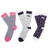 Superdry Women's Ditsy Triple Pack Socks - Pink/Grey/Navy: Image 1