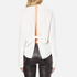 Helmut Lang Women's Back Knot Long Sleeve Blouse - White: Image 3