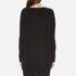 Paisie Women's Ribbed Jumper with Side Splits - Black: Image 3