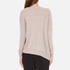 Paisie Women's Round Neck Asymmetric Jumper - Blush: Image 3